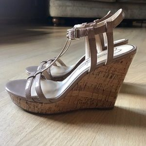 Tan wedges size 6.5